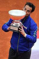 Fabio Fognini con il trofeo <br /> Monaco 21/04/2019 Monte Carlo Country Club Panoramica <br /> Tennis Torneo ATP Montecarlo 2019 <br /> Foto Norbert Scanella / Panoramic / Insidefoto <br /> ITALY ONLY