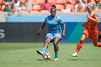 Houston, TX - Saturday May 13, Sky Blue FC defender Mandy Freeman (22) during a regular season National Women's Soccer League (NWSL) match between the Houston Dash and Sky Blue FC at BBVA Compass Stadium. Sky Blue won the game 3-1.