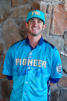 Kenny Oakley (36) of the Grand Junction Rockies and the Pioneer League All-Stars poses for a photo during activities before the 2nd Annual Northwest League-Pioneer League All-Star Game at Snowbasin Resort on August 1, 2016 in Ogden, Utah. (Stephen Smith/Four Seam Images)