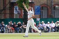 Jamie Porter of Essex celebrates taking the wicket of Mark Stoneman during Surrey CCC vs Essex CCC, Specsavers County Championship Division 1 Cricket at Guildford CC, The Sports Ground on 11th June 2017