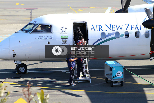 Shield fever: The Tasman Makos are farewelled at Nelson Airport , 31 August 2012, Nelson Airport, Nelson, New Zealand<br /> Photo: Marc Palmano/shuttersport.co.nz