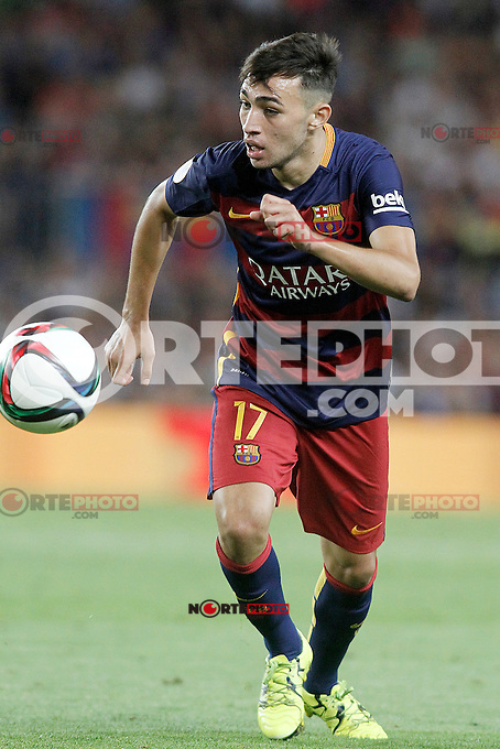 FC Barcelona's Munir El Haddadi during Supercup of Spain 2nd match.August 17,2015. (ALTERPHOTOS/Acero)