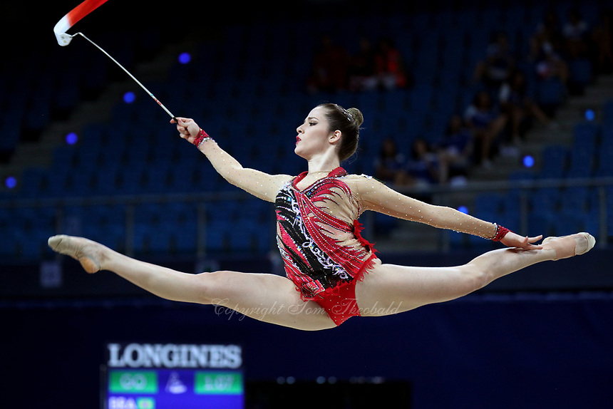 August 31, 2017 - Pesaro, Italy - NATALIA GAUDIO of Brazil performs during AA qualifying round at 2017 World Championships.