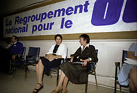 Le camp duOUI au referendum de 1980 , le 17 mai 1980.<br /> <br /> PHOTO : Agence Quebec Presse