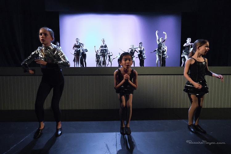 """Tuesday Rehearsal, 3D Project Jazz Company """"X"""", 10th Annual Spring Showcase, Cary Arts Center, Cary, North Carolina."""