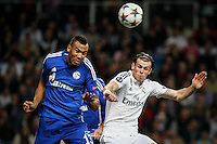 Real Madrid´s Welsh forward Gareth Bale and Schalke´s forward Eric Maxim Choupo-Moting