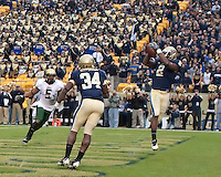 Pittsburgh tight end Dorin Dickerson (2) makes a five-yard touchdown catch. The Pittsburgh Panthers defeated the South Florida Bulls 41-14 at Heinz Field, Pittsburgh, PA on October 24, 2009.