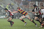Male Sa'u is caught by Mark Burman during the Air NZ Cup week 5 game between Waikato & Counties Manukau played at Rugby Park, Hamilton on 26th of August 2006.