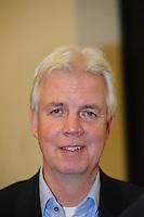 SCHAATSEN: LEEUWARDEN: Persconferentie Koninklijke Vereniging De Friesche Elf Steden, 06-02-2012, voorzitter Wiebe Wieling, ©foto: Martin de Jong