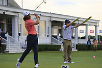 Tommy Fleetwood (ENG) tees off the 14th tee during Saturday's Round 3 of the 118th U.S. Open Championship 2018, held at Shinnecock Hills Club, Southampton, New Jersey, USA. 16th June 2018.<br /> Picture: Eoin Clarke | Golffile<br /> <br /> <br /> All photos usage must carry mandatory copyright credit (&copy; Golffile | Eoin Clarke)