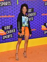 Liza Koshy at the Nickelodeon Kids' Choice Sports Awards 2018 at Barker Hangar, Santa Monica, USA 19 July 2018<br /> Picture: Paul Smith/Featureflash/SilverHub 0208 004 5359 sales@silverhubmedia.com