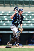 Tampa Bay Rays catcher Nick Ciuffo (14) during an Instructional League game against the Baltimore Orioles on September 15, 2014 at Ed Smith Stadium in Sarasota, Florida.  (Mike Janes/Four Seam Images)