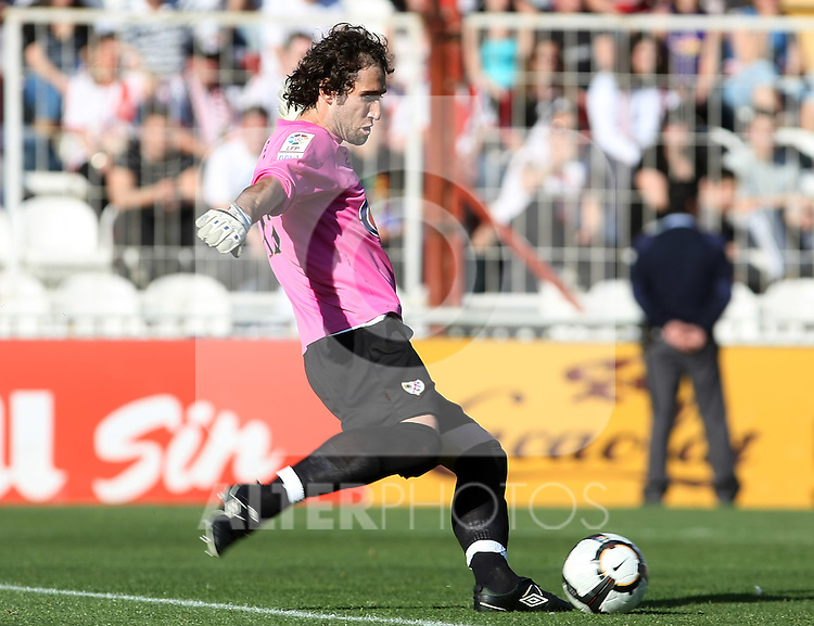 Rayo Vallecano's Dani Gimenez during La Liga 2th Division match, April 10 2010. (ALTERPHOTOS/Acero).