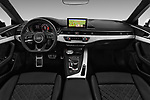 Stock photo of straight dashboard view of a 2017 Audi S5 Sportback Base 5 Door Hatchback
