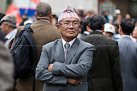 11.09.2014 - Gurkha Veterans Pension Protest Outside Parliament