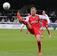 Fleetwood Town's David Ball in action<br /> <br /> Photographer David Shipman/CameraSport<br /> <br /> The EFL Sky Bet League One - Peterborough United v Fleetwood Town - Friday 14th April 2016 - ABAX Stadium  - Peterborough<br /> <br /> World Copyright &copy; 2017 CameraSport. All rights reserved. 43 Linden Ave. Countesthorpe. Leicester. England. LE8 5PG - Tel: +44 (0) 116 277 4147 - admin@camerasport.com - www.camerasport.com