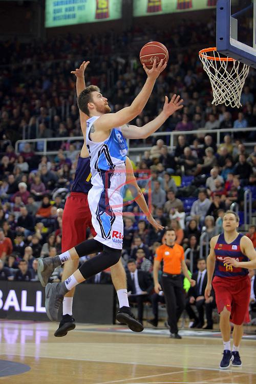 League ACB-ENDESA 2016/2017 - Game: 16.<br /> FC Barcelona Lassa vs Rio Natura Monbus Obradoiro: 100-76.<br /> Whittington vs Aleksandar Vezenkov.