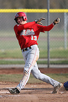April 5, 2009:  /dh/ Kolbrin Vitek (13) of the Ball State Cardinals during a game at Amherst Audubon Field in Buffalo, NY.  Photo by:  Mike Janes/Four Seam Images