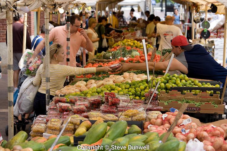 market day at Haymarket produce, Boston, MA