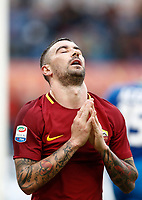 Calcio, Serie A: AS Roma - Sassuolo, Roma, stadio Olimpico, 30 dicembre 2017.<br /> Roma's Aleksandar Kolarov reacts during the Italian Serie A football match between AS Roma and Sassuolo at Rome's Olympic stadium, 30 December 2017.<br /> UPDATE IMAGES PRESS/Isabella Bonotto