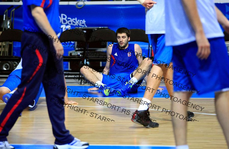 Stefan Markovic, Serbian national basketball team training session, Kaunas, Lithuania, Eurobasket 2011, Tuesday, September 13, 2011. (photo: Pedja Milosavljevic)