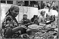 Uzbekistan - Spice seller on the road South.