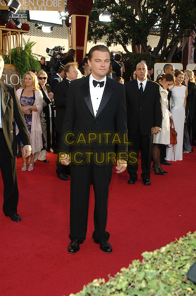"LEONARDO DiCAPRIO.Red Carpet Arrivals - 64th Annual Golden Globe Awards, Beverly Hills HIlton, Beverly Hills, California, USA..January 15th 2007.globes full length black tuxedo Di Caprio.CAP/AW.Please use accompanying story.Supplied by Capital Pictures.© HFPA"" and ""64th Golden Globe Awards"""