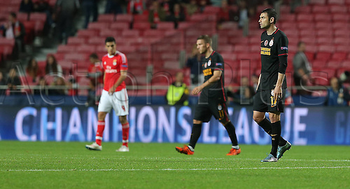 03.11.2015. Lisbon, Portugal.  UEFA Champions League Group C football match between Benfica and Galatasaray at Estadio da Luz Stadium in Lisbon, Portugal. Burak Yilmaz of Galatasaray.