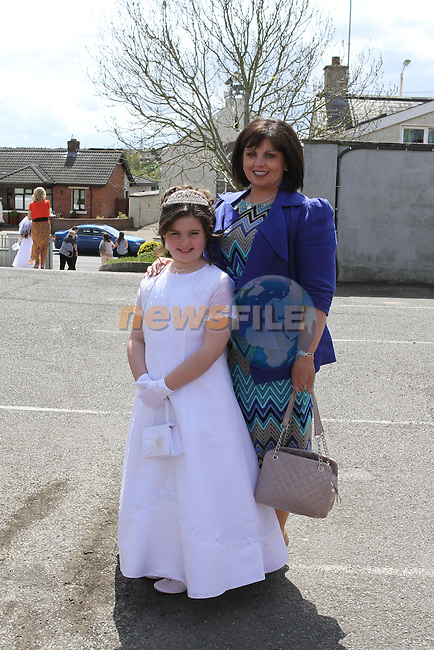 Áine and Vivienne Byrne at Mell Communion...(Photo Jenny Matthews/www.newsfile.ie)