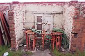 23/06/2000 Blackpool FC Bloomfield Road Ground..Derelict turnstiles, home Kop entrance.....© Phill Heywood.