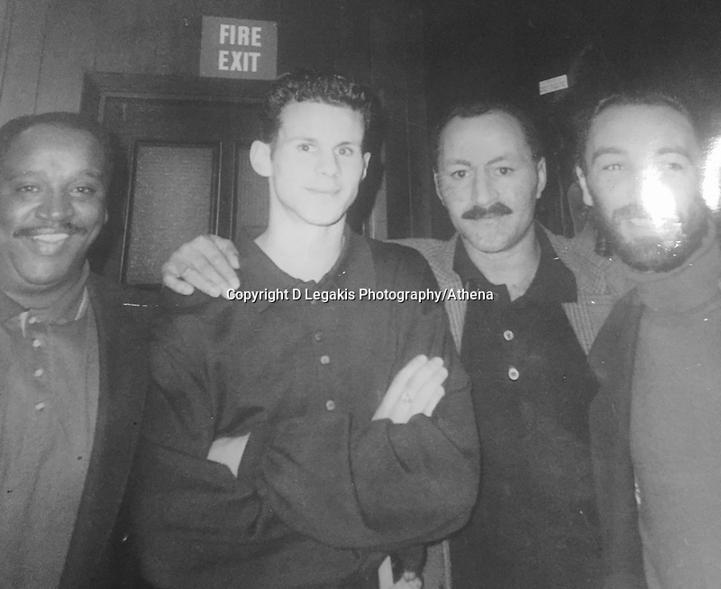 Pictured L-R: Raymond Pearce (Danny's friend), Ryan Giggs, Danny Wilson (Ryan Giggs' father) and Paul Wilson (Danny's cousin). STOCK PICTURE<br /> Re: Former Manchester United player and coach Ryan Giggls, is expected to be names Wales' new manager by the FAW.
