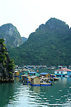 Halong Bay 02 - Floating village surrounded by limestone islands, Halong Bay, Viet Nam