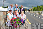 Members of Castlemaine Tidy Towns committee who are angry at the theft of the flower baskets they had erected on the bridge in the village last weekend front row l-r: Myra Colgan, Denis Tangney, Bernadine Boyle. back row: John Dowling, Pat Moriarty and Charlie Boyle