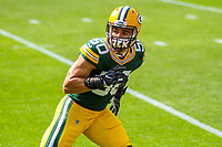 Green Bay Packers linebacker Blake Martinez (50) during a National Football League game against the Seattle Seahawks on September 10, 2017 at Lambeau Field in Green Bay, Wisconsin. Green Bay defeated Seattle 17-9. (Brad Krause/Krause Sports Photography)