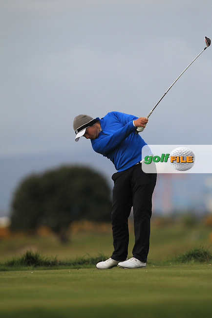 Nathan Brader (POR) on the 3rd tee during Round 1 of the Flogas Irish Amateur Open Championship at Royal Dublin on Thursday 5th May 2016.<br /> Picture:  Thos Caffrey / www.golffile.ie