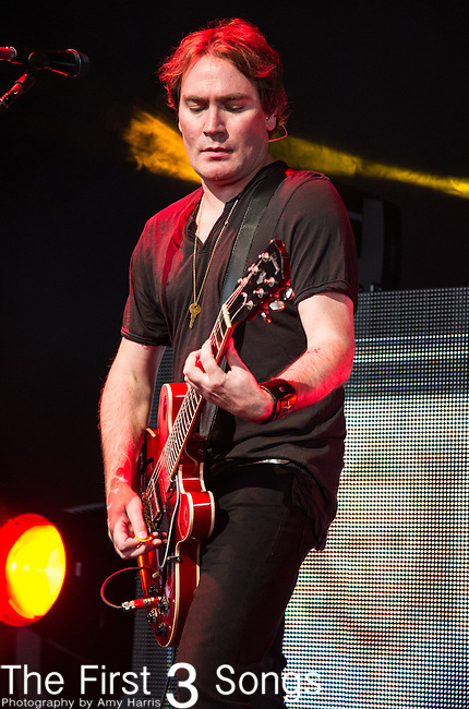Brad Fernquist of the Goo Goo Dolls performs at Riverbend Music Center in Cincinnati, Ohio.