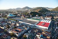 La Basilica and Plaza Mariana. Aerial photos of Mexico City, Mexico