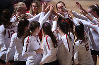 Stanford, Ca - September 29, 2019: The Stanford Cardinal vs Washington Huskies Women's Volleyball at Maples Pavilion. Final score: Stanford - 1 Washington - 3.