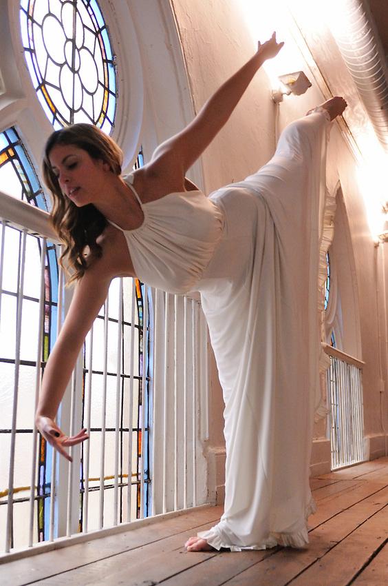 Gregory Holmgren Photography, dance, movement project, model, dancer, Dani Shayne at Berkeley Church, Toronto, ON, December 10, 2012.