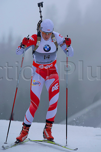 22.03.2014  Oslo, Norway The E.ON IBU World Cup Biathlon 2014  Magdalena Gwizdon of Poland in action during the ladies 10 kilometre  pursuit at The EON IBU World Cup Biathlon Final from Holmenkollen in Oslo, Norway.