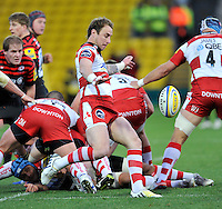 Watford, England. Jimmy Cowan of Gloucester Rugby in action during the Aviva Premiership match between Saracens and at Gloucester Rugby at Vicarage Road on December 2, 2012 in Watford, England.