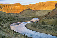 Sunrise along John Day River Canyon (upstream of 30 Mile Creek).  OR.  April.