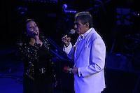 el principe d ela cancion mexicana Jose Jose y Cristian Castro durante su presentacion en el redondel del palenque d ela expogan 2015