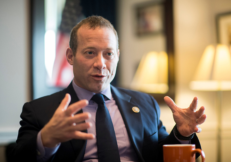 UNITED STATES - FEBRUARY 17: Rep. Josh Gottheimer, D-N.J., speaks in his office in the Cannon House Office Building on Friday, Feb. 17, 2017. (Photo By Bill Clark/CQ Roll Call)