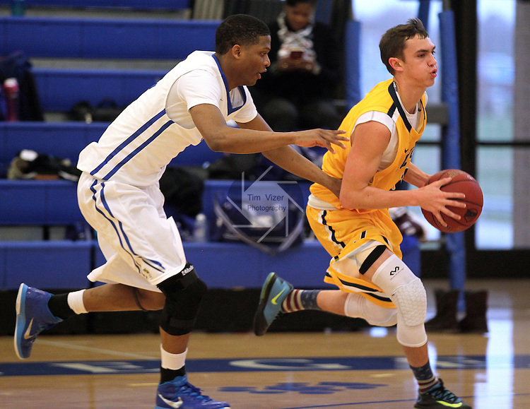 Southwestern Illinois College hosted the Jefferson Community and Technical College in an afternoon game on Saturday at the home of the Blue Storm. SWIC's Dez Marshall (22, left) pursues Jefferson's Carson King (3).