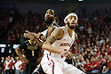 February 23, 2014: Terran Petteway (5) of the Nebraska Cornhuskers boxing out Rapheal Davis (35) of the Purdue Boilermakers during the first half at the Pinnacle Bank Arena, Lincoln, NE. Nebraska 76 Purdue 57.
