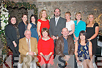 Margaret O'Connor, Fossa, Killarney and Noel Raymond, Rockpark Av, Tralee (seated 2nd&3rd Lt) who retired after teaching for 40 & 35yrs respectively were honored at the Annual Christmas staff party from Mercy Mounthawk school,Tralee in the Ballyseedy Castle hotel last Friday night (seated) L-R Liam & Margaret O'Connor with Noel & Emer Raymond (back) L-R Emma Wall, Lisa Healy, Laverne Leahy, Nora Quane, John O'Roarke (school Principal) Stella O'Shea, Eileen Kennelly and Susan O'Halloran.