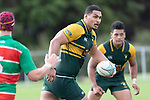 Cameron Skelton during the Counties Manukau Premier Club rugby game between Pukekohe and Waiuku, played at Colin Lawrie Fields, Pukekohe on Saturday April 14th, 2018. Pukekohe won the game 35 - 19 after leading 9 - 7 at halftime.<br /> Pukekohe Mitre 10 Mega -Joshua Baverstock, Sione Fifita 3 tries, Cody White 3 conversions, Cody White 3 penalties.<br /> Waiuku Brian James Contracting - Lemeki Tulele, Nathan Millar, Tevta Halafihi tries,  Christian Walker 2 conversions.<br /> Photo by Richard Spranger