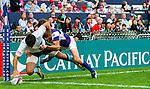 Uruguay play Chinese Taipei on Day 1 of the Cathay Pacific / HSBC Hong Kong Sevens 2013 at Hong Kong Stadium, Hong Kong. Photo by Aitor Alcalde / The Power of Sport Images