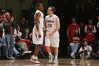 STANFORD, CA - JANUARY 9:  Jeremy Green and Drew Shiller of the Stanford Cardinal during Stanford's 70-59 win over the UCLA Bruins on January 9, 2009 at Maples Pavilion in Stanford, California.